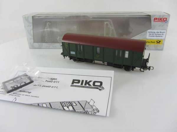 PIKO 5448 3/10 Postwagen Bahnpostwagen neuwertig mit Verpackung, AC-Achsen