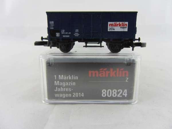 Märklin 80824 Märklin Magazin Wagen 2014 Güterwagen blau neu mit OVP