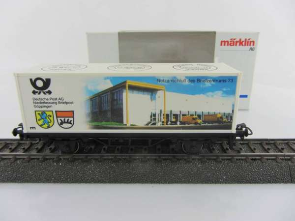 Märklin Basis 4482 Containerwagen Briefpost Göppingen mit OVP
