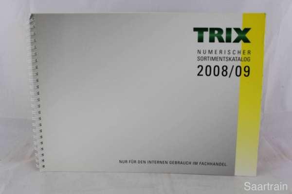 "Trix ""Sortimentskatalog für den Fachhandel 2008/2009"""