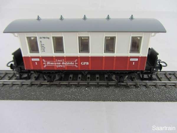 Basis 4107 Personenwagen 1. Kl. weis rot GPB Museums Schänke neu ohne OVP