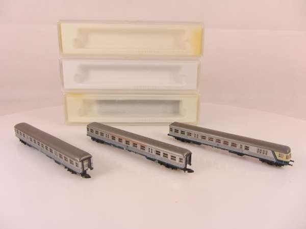 Märklin 8716,8717 und 8718 Silberlinge Wagen-Set der DB sehr gut und mit OVP