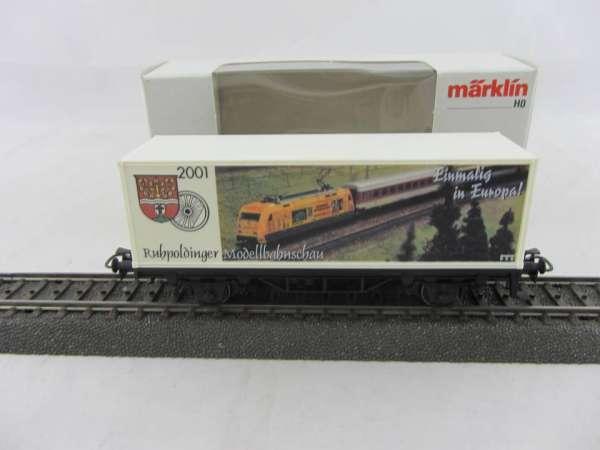 Märklin Basis 4482 Containerwagen Ruhpoldinger Modellbahnschau 2001 neuwertig und mit OVP