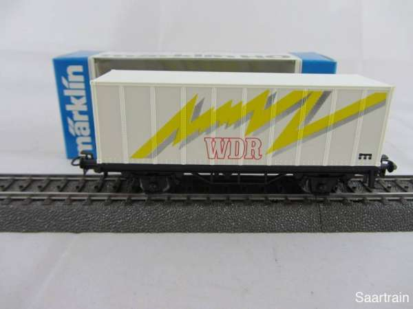 Märklin Basis 4481 Containerwagen WDR neuwertig und mit Originalverpackung