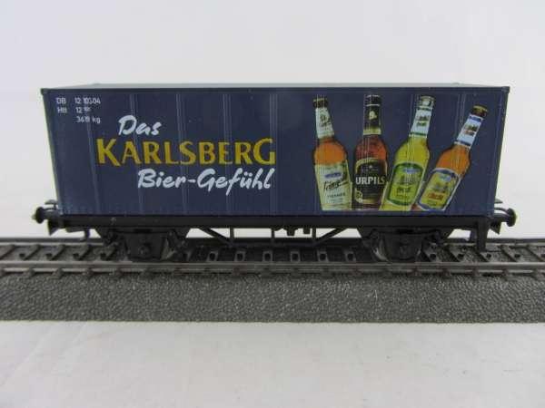 Basis 4481 Bierwagen (Container) Karlsberg Bier Gefühl Sondermodell mit OVP