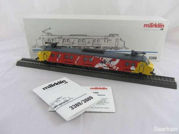 Märklin 3388 Serie mP 3000 Triebwagen der NS rot gelb Holland mit OVP