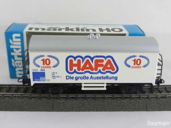 Märklin Basis 4415 Werbewagen HAFA Ausstellung Sondermodell Neu mit OVP