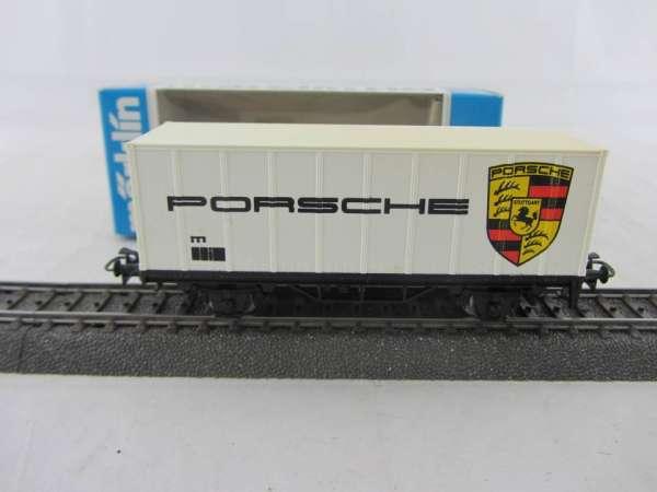 Märklin Basis 4481 Containerwagen Porsche, mit Verpackung