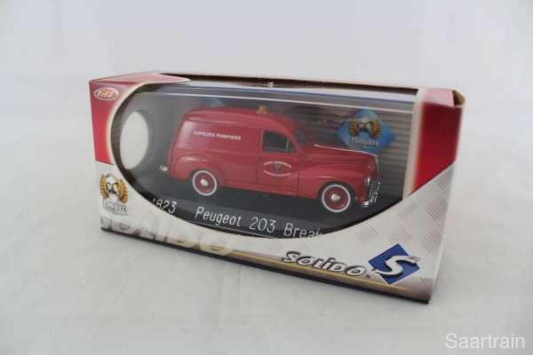 1:43 Solido 4823 Peugeot 203 Break Feuerwehr