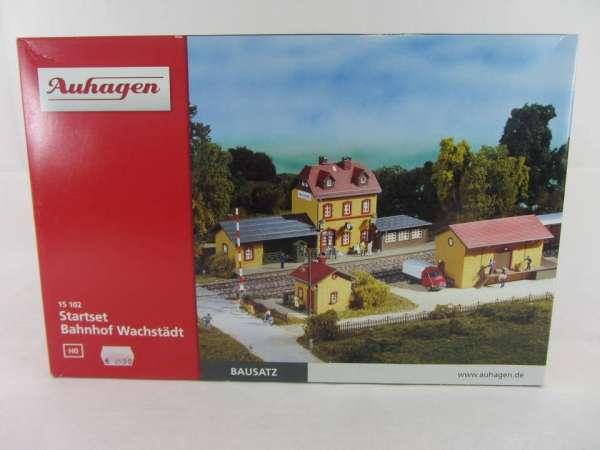 Auhagen 15102 HO-Bausatz Startset Bahnhof Wachstädt 1:87 neu und mit Verpackung