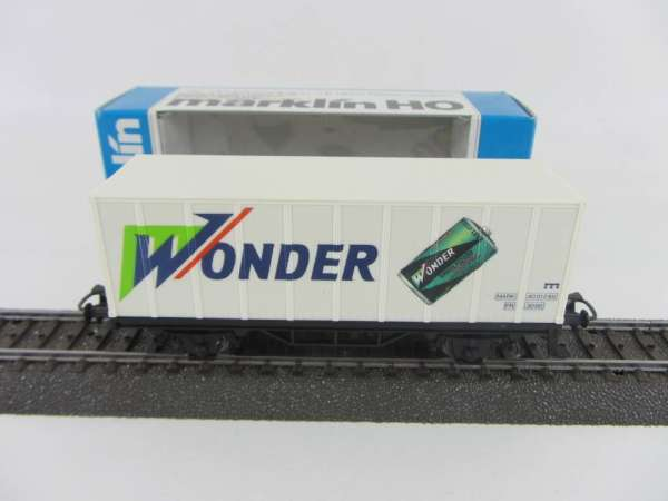 Märklin Basis 4481 Containerwagen Wonder Baterrien SNCF mit OVP