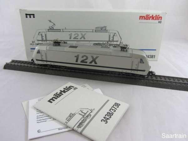 Märklin 34381 Baureihe 128 001 5 E Lok 12X in silbern guter Zustand und mit OVP