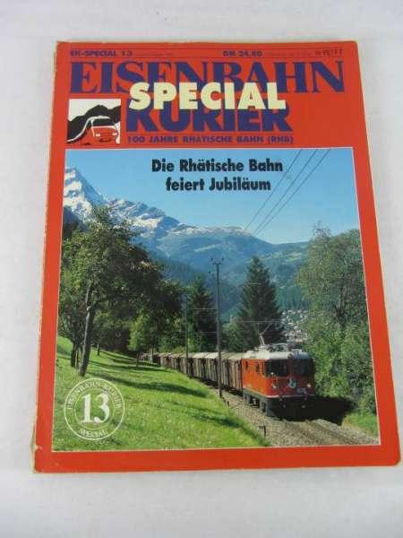"""Eisenbahn-Kurier Special 13 """"100 Jahre Rhätische Bahn"""", mit Gebrauchspuren"""