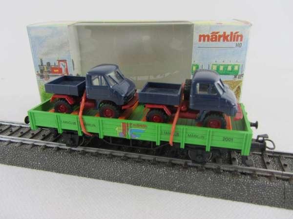 Märklin 94110 1.FC Märklin Jahreswagen 2001 mit 2 Unimog, gebraucht