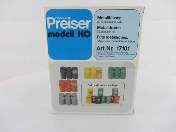 Preiser HO 17101 1:87 Metallfässer neu mit OVP