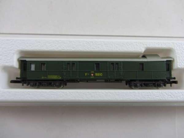 Märklin 8749 Gepäckwagen grün der SBB 4 achsig neuwertig mit Originalverpackung