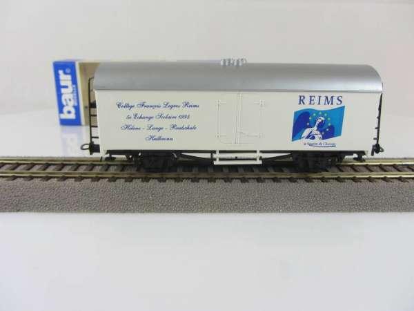 Baur HO Kühlwagen REIMS / Helene Lange Schule Heilbronn mit Verpackung