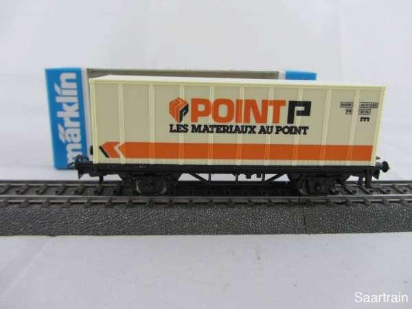 Märklin Basis 4481 Containerwagen POINT P Frankreich neuwertig und mit OVP