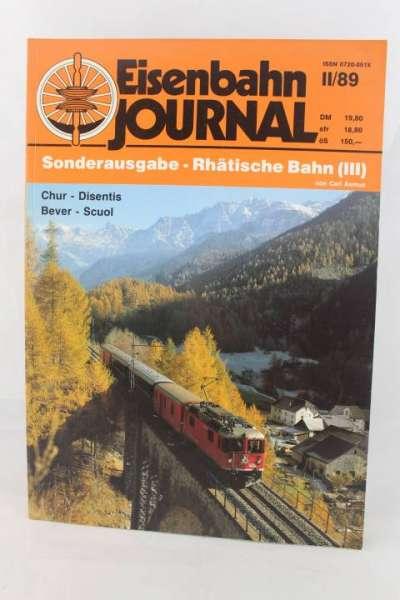 """Eisenbahnjournal """"Sonderausgabe-Rhätische Bahn III"""" II/89"""