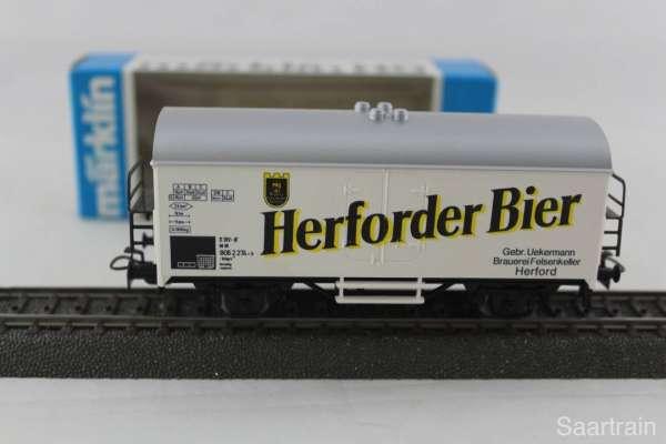 Märklin Basis 4415 Bierwagen Herforder Bier Sondermodell, neu und mit OVP