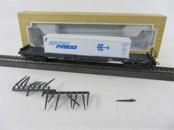 Liliput 202 13 Rungenwagen mit Wiking Container InterFrigo mit Verpackung