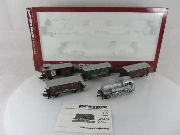 Primex 2750 Jubiläumszug Personenzug mit Dampflok guter Zust im Originalkarton