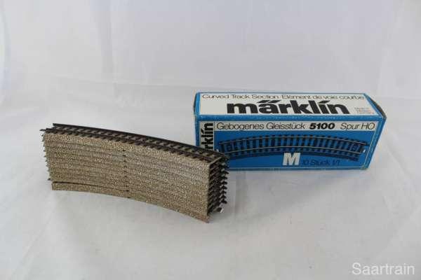Märklin 5100 10 Stück gebogenes M-Gleis, gebraucht guter Zustand, mit OVP