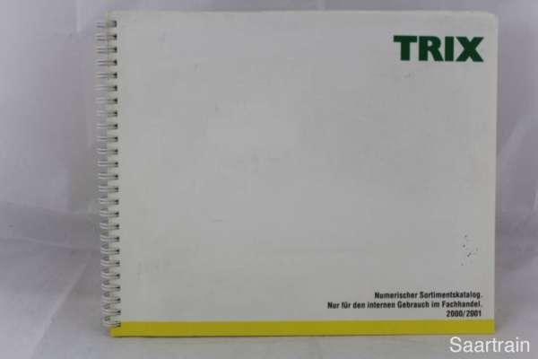 "Trix ""Sortimentskatalog für den Fachhandel 2000/2001"""