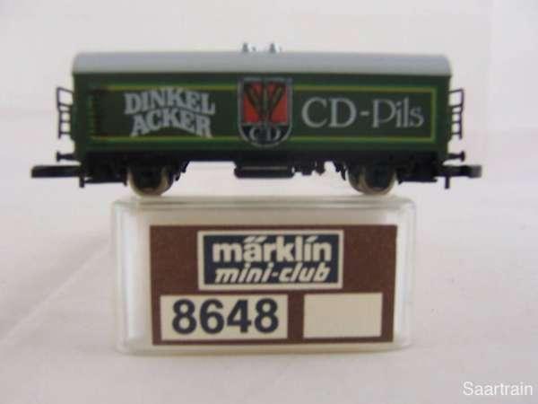 Märklin 8648 Bierwagen Dinkelacker CD Pils sehr guter Zustand mit Verpackung
