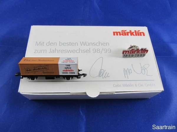 Märklin Sondermodell Jahreswechsel 1998/99 Containerwagen 140 Jahre Märklin