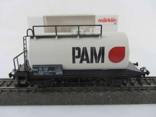 Märklin Basis 4440 Kesselwagen PAM Gas Sondermodell neuwertig und mit OVP