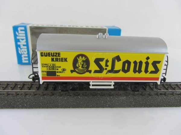 Märklin Basis 4415 Bierwagen Gueuze Kriek St.Louis Belgien, SOMO neuwertig mit OVP