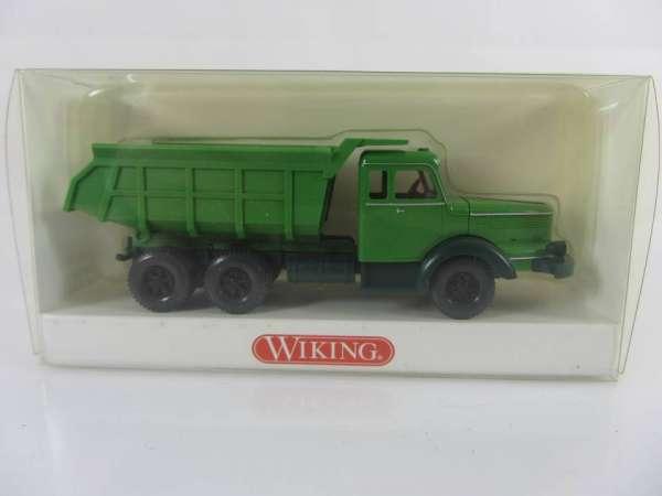 Wiking 866408 HO 1:87 Krupp Titan Muldenkipper grün, neu und mit OVP