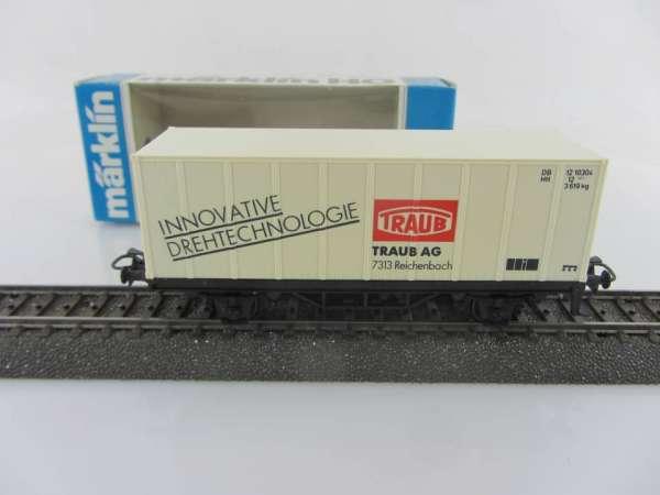 Märklin Basis 4481 Containerwagen TRAUB Reichenbach mit OVP