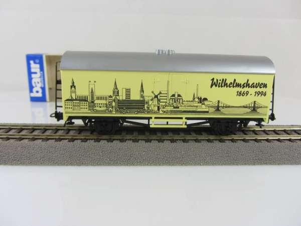 Baur HO Kühlwagen Städtewagen Wilhelmshaven gelbfarben mit Originalverpackung
