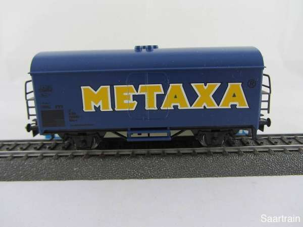 Märklin Basis 4415 Werbewagen METAXA ÖBB blau Sondermodell Neu mit OVP