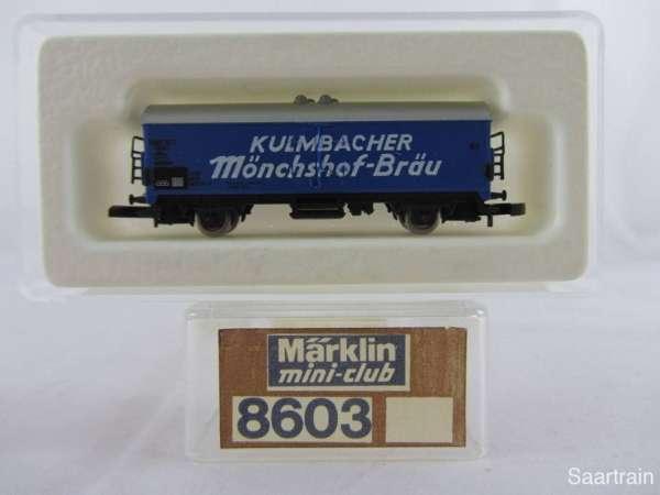 Märklin 8603 Bierwagen Kulmbacher Mönchshof sehr guter Zustand mit Verpackung