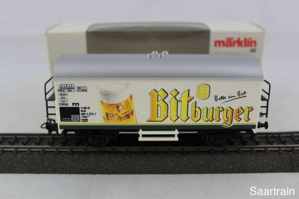Märklin Basis 4415 Bierwagen Bitburger weiss Sondermodell, Neu mit Verpackung