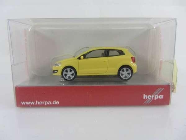 HERPA 24235 1:87 VW Polo 2-türig gelb neu mit OVP