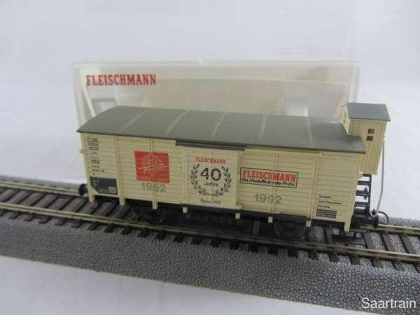 Fleischmann 5806K Güterwagen 40 Jahre HO guter Zustand mit Originalverpackung