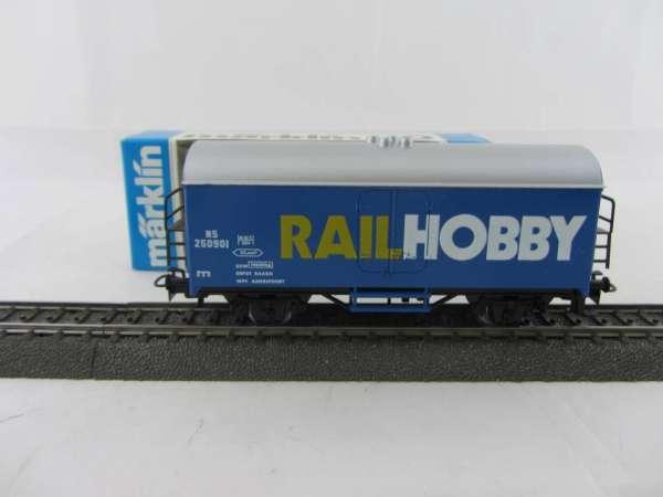 Märklin Basis 4415 Werbewagen Rail Hobby Holland Sondermodell, neu und mit OVP