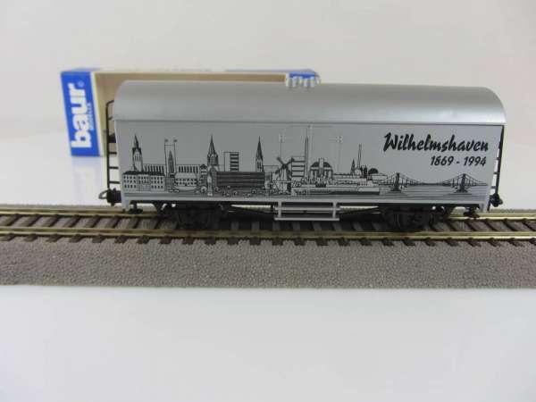 Baur HO Kühlwagen Städtewagen Wilhelmshaven silbernfarben mit Originalverpackung