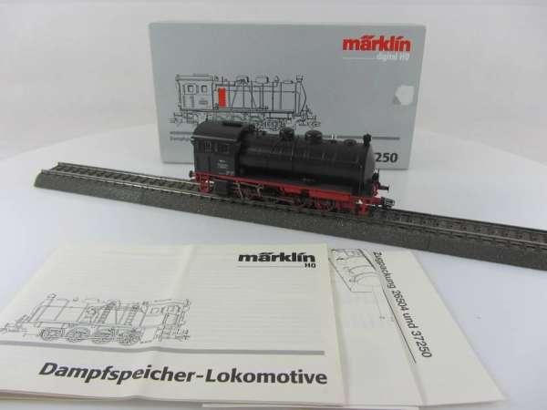 Märklin 37250 Dampfspeicherlokomotive -Werk 1- in schwarz mit OVP