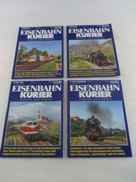 Eisenbahnkurier (4 Hefte) von 2015 sehr guter Zustand
