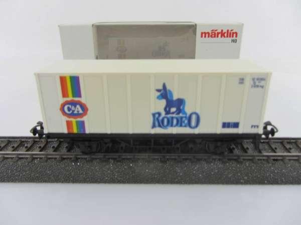 Märklin Basis 4481 Containerwagen C&A Rodeo mit OVP