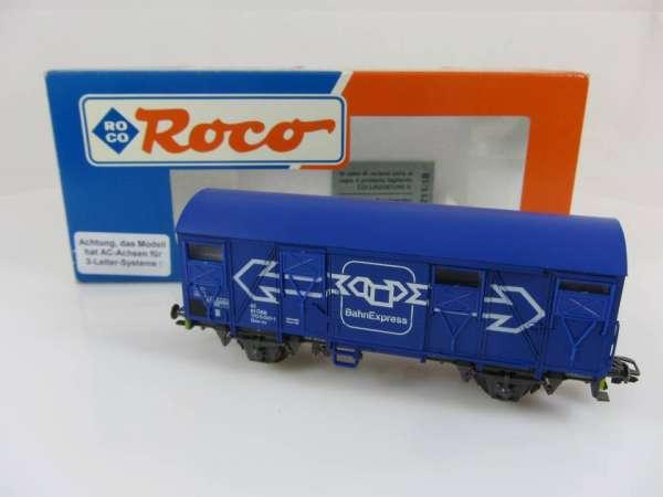 ROCO 46417 gedeckter Güterwagen der ÖBB blau, AC-Achsen, sehr guter Zustand mit OVP