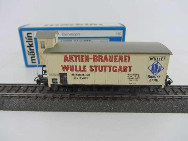 Märklin 4678 Bierwagen G10 Brauerei Wulle Stuttgart neuwertiger Zustand und mit OVP