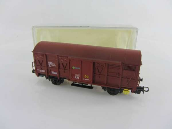Electrotren 1370 gedeckter Güterwagen der RENFE in braun, mit OVP