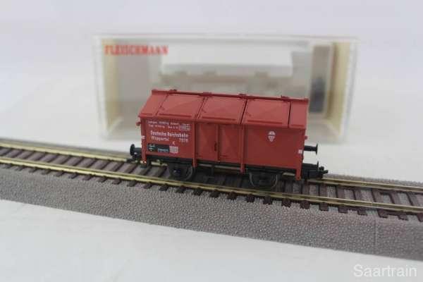 Fleischmann 5213K Klappdeckeldachwagen der DR guter Zustand mit Originalverpackung