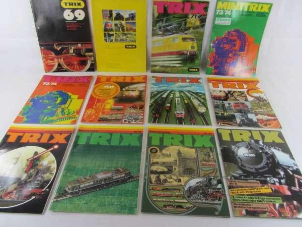 12 alte Trix Kataloge 1969-80/81, guter Zustand